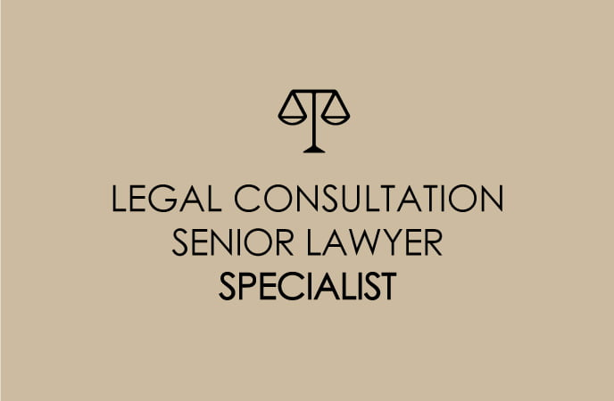 Legal consultation with a senior specialist lawyer.