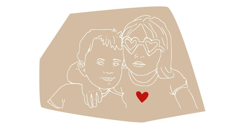 dibujo de dos hermanos