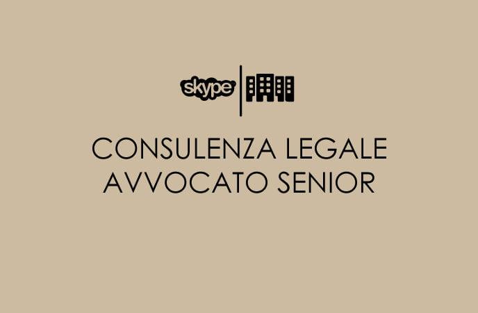 CONSULENZA LEGALE CON AVVOCATO SENIOR
