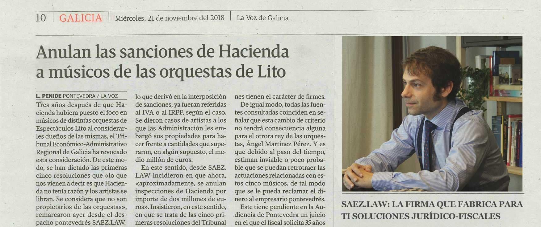 Álvaro Sáez el abogado fiscal nº1 logra que hacienda anule las sanciones a sus clientes por valor de más de 2 millones de euros.